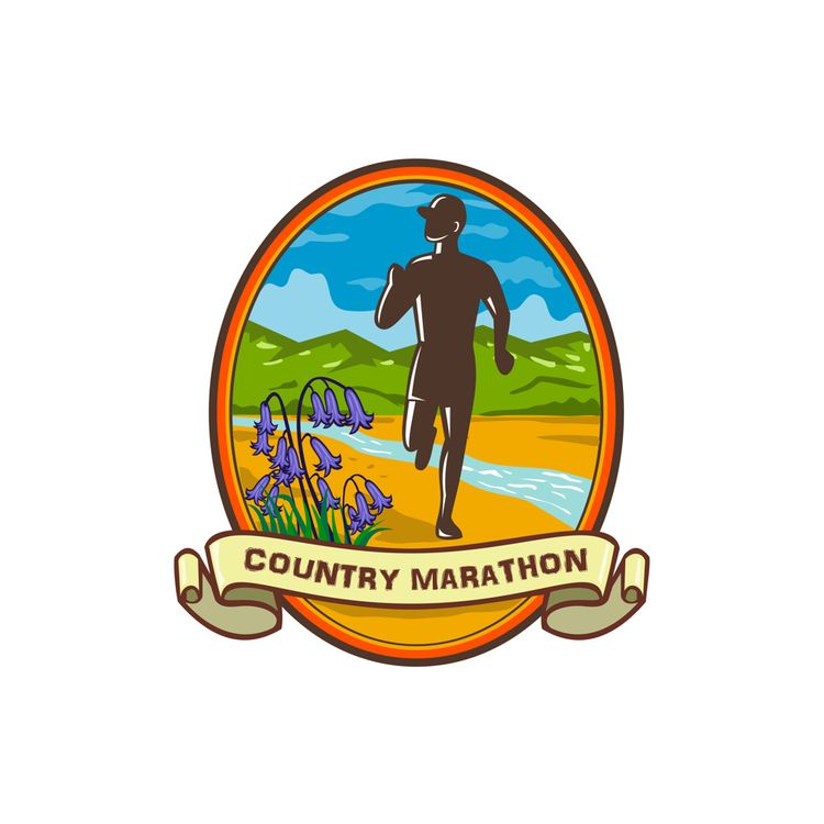 Country Marathon Run Oval Retro - patrimonio | ello