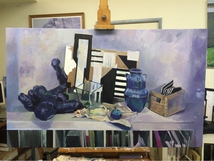 title . /Oil Painting /DM inter - awsgallary | ello
