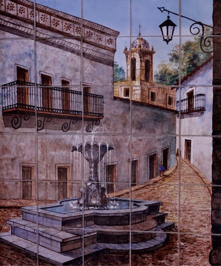 Tile work Rosarito Hotel Lobby - deweyweber   ello