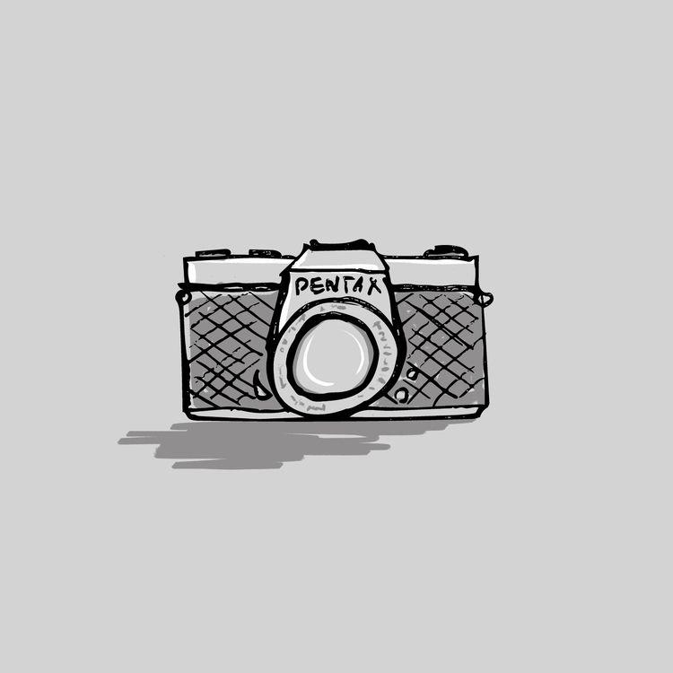 camera - inktober, inktober2018 - paperback | ello