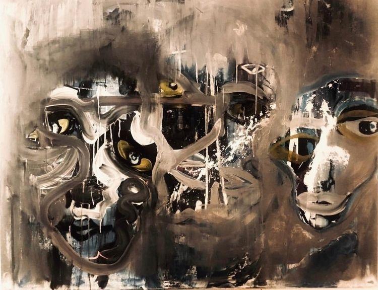 Acrylic paint canvas - sameldin | ello
