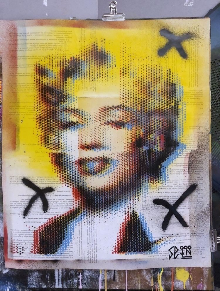 """Marilyn excesses II"" . Spray r - cicerospin 