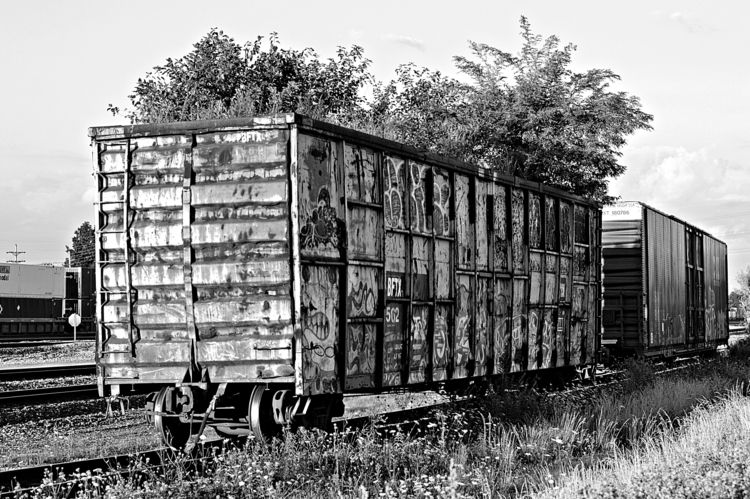 freight car - photography, blackandwhitephotography - kenlong | ello