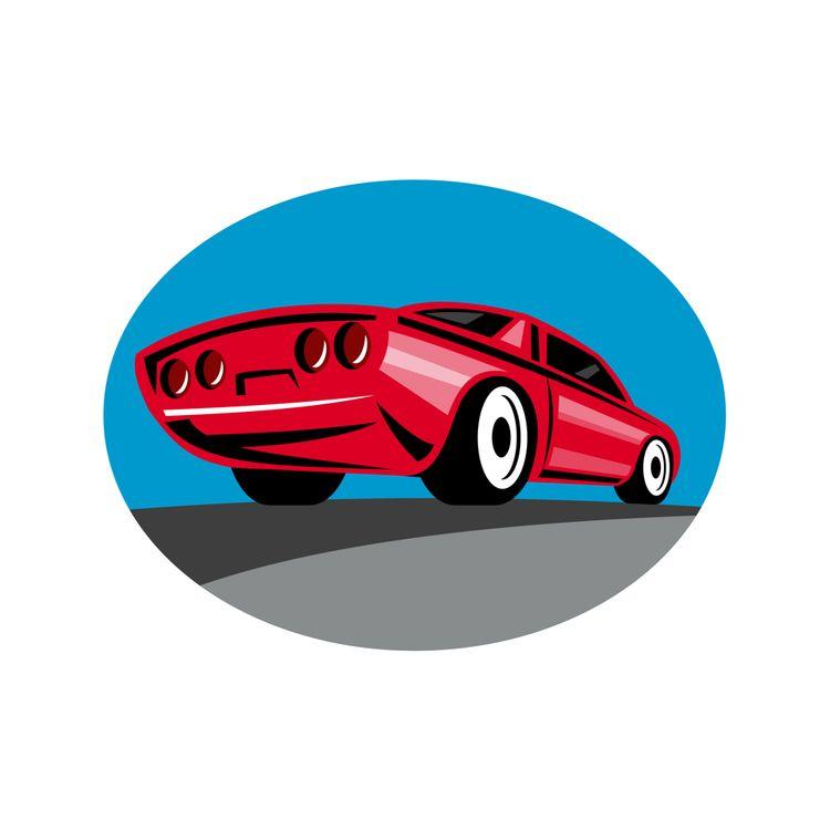 American Muscle Car Oval Retro - patrimonio | ello