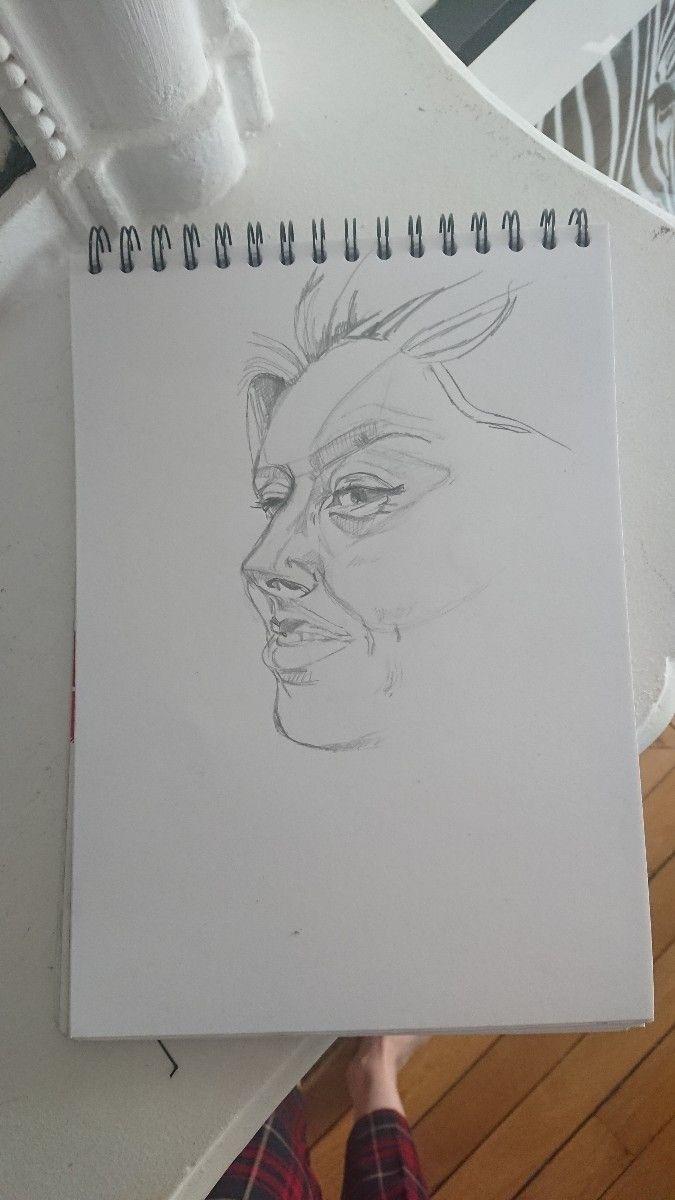Wip :heart:️ - sketching, portrait - major_town | ello