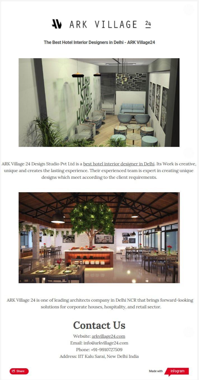 Hotel Interior Designers Delhi  - arkvillage24 | ello