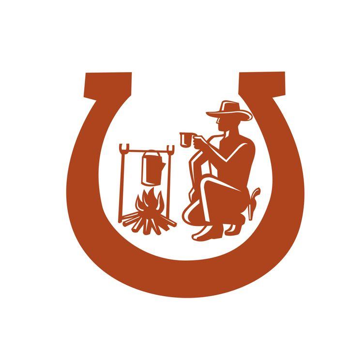 Cowboy Drinking Coffee Horsesho - patrimonio | ello
