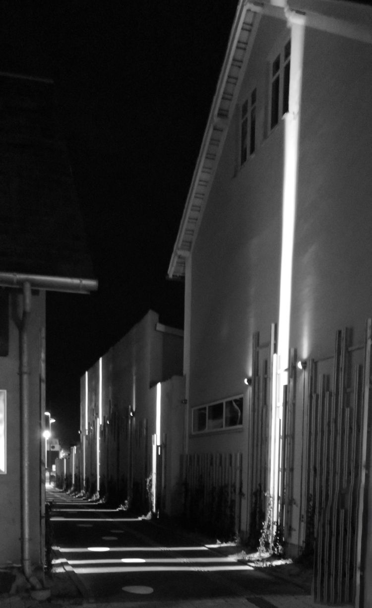 passage, lane, haslev, night - folkogsteder | ello