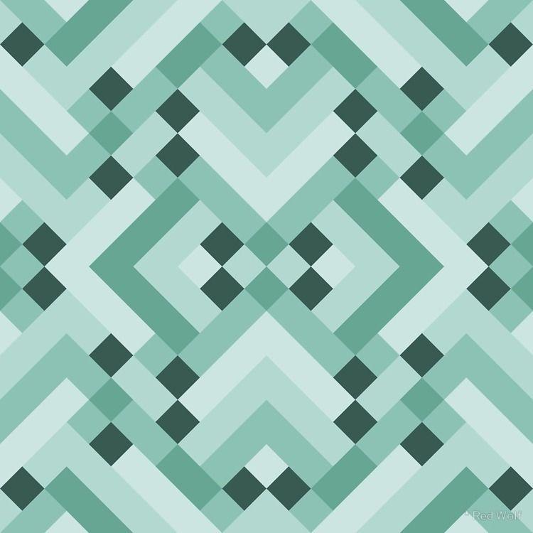Geometric Pattern: Woven Rug: G - red_wolf | ello
