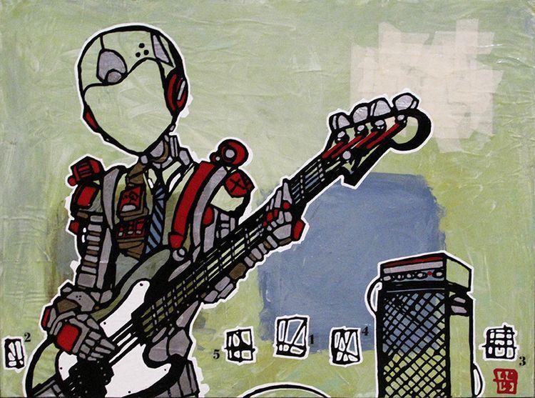 bass Line - art, painting, music - aaronkraten | ello