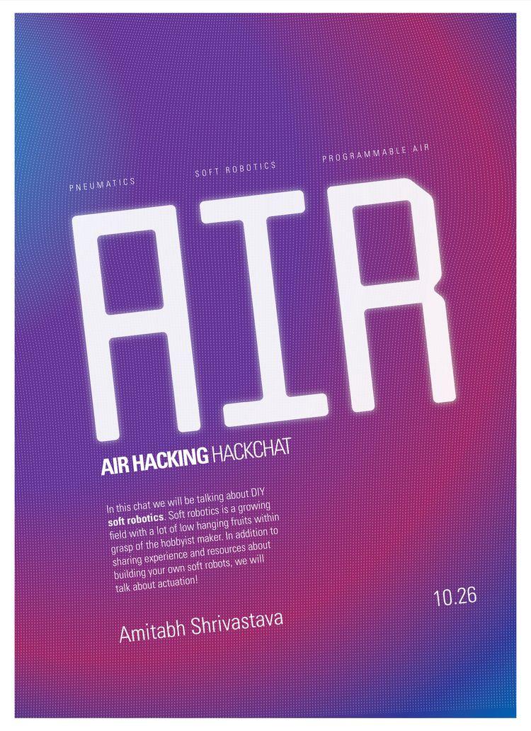 AirHacking HackChat - poster, design - randomwalks   ello
