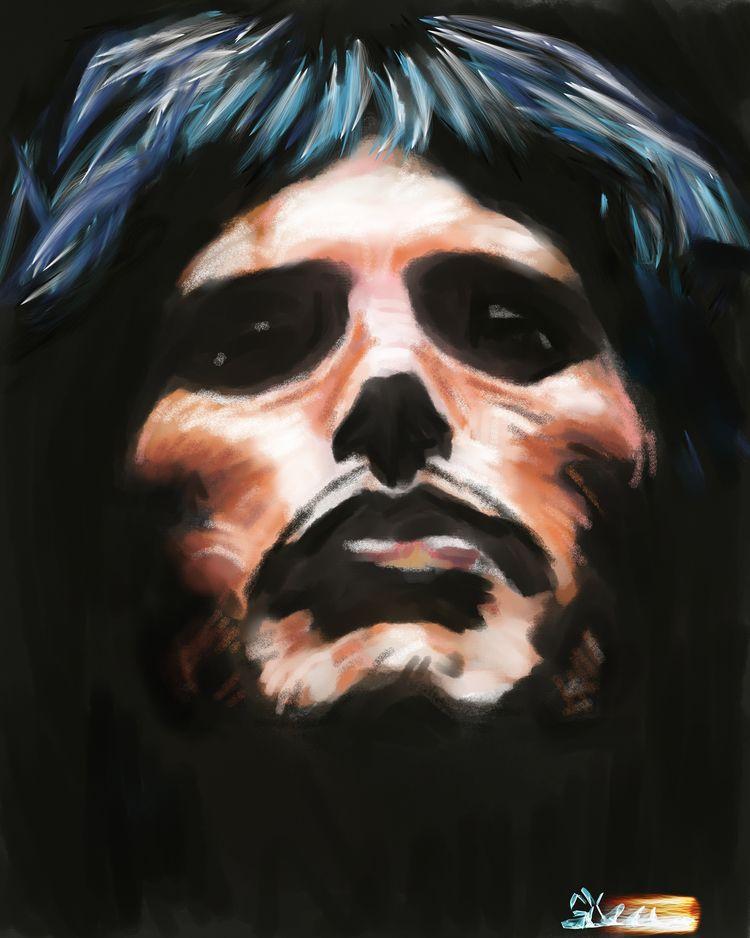 painting great Freddie Mercury - sirdizzel   ello