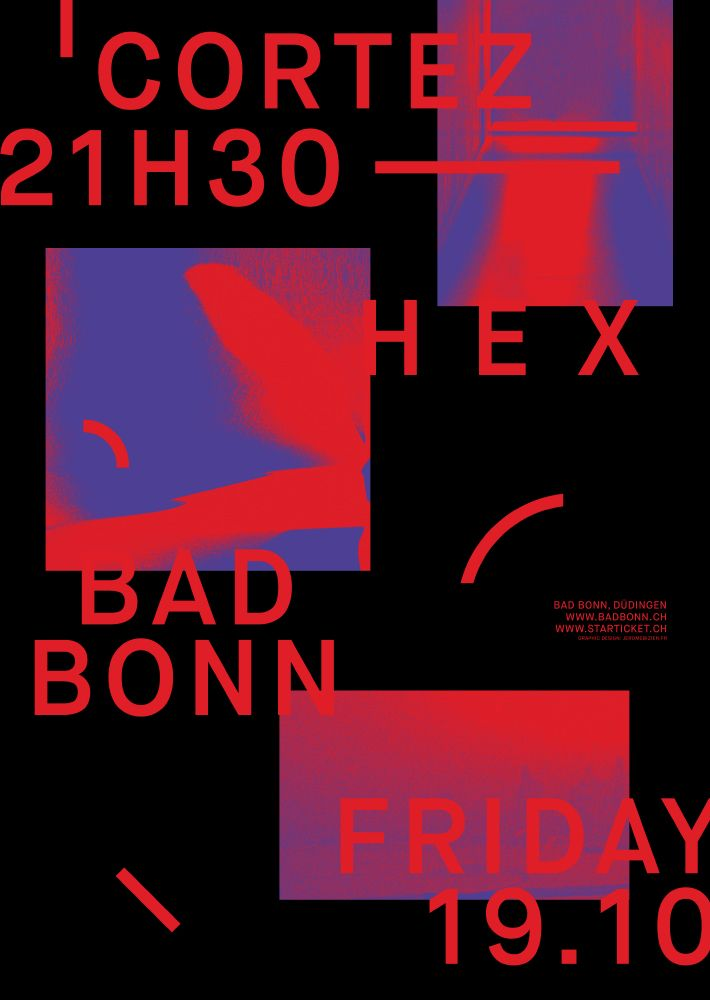 Poster Cortez playing live Bad  - jeromebizien | ello