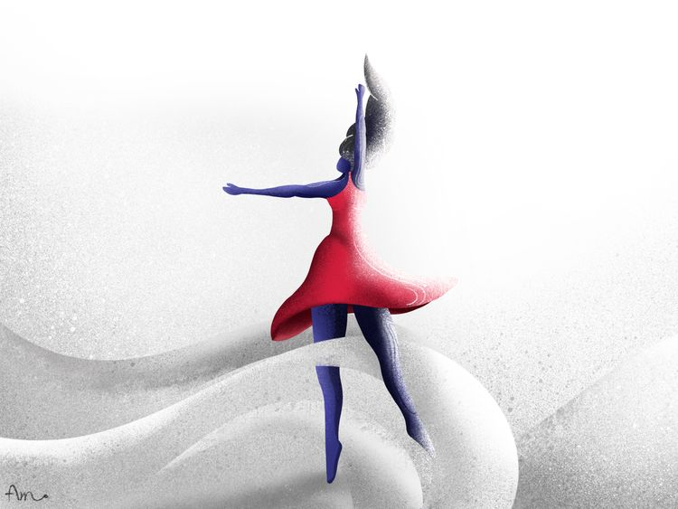 girl practicing ballet drawing  - aminnajafi | ello