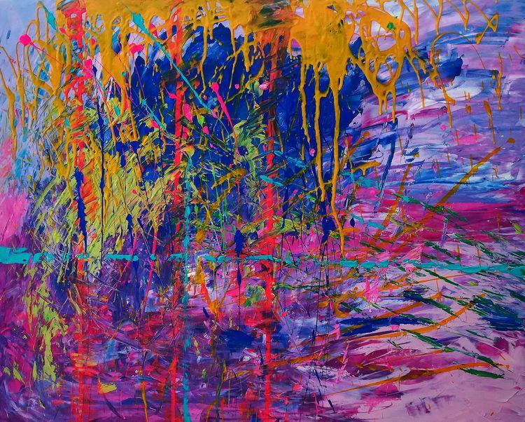 Passion, acryl canvas, 80x100cm - tuuleviart | ello