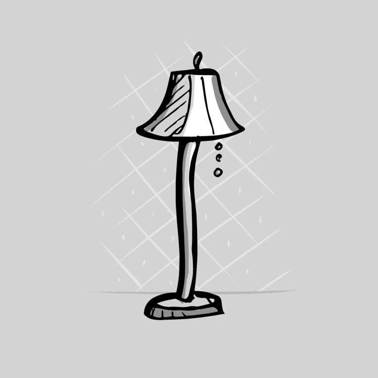 floor lamps work posture - inktober - paperback | ello