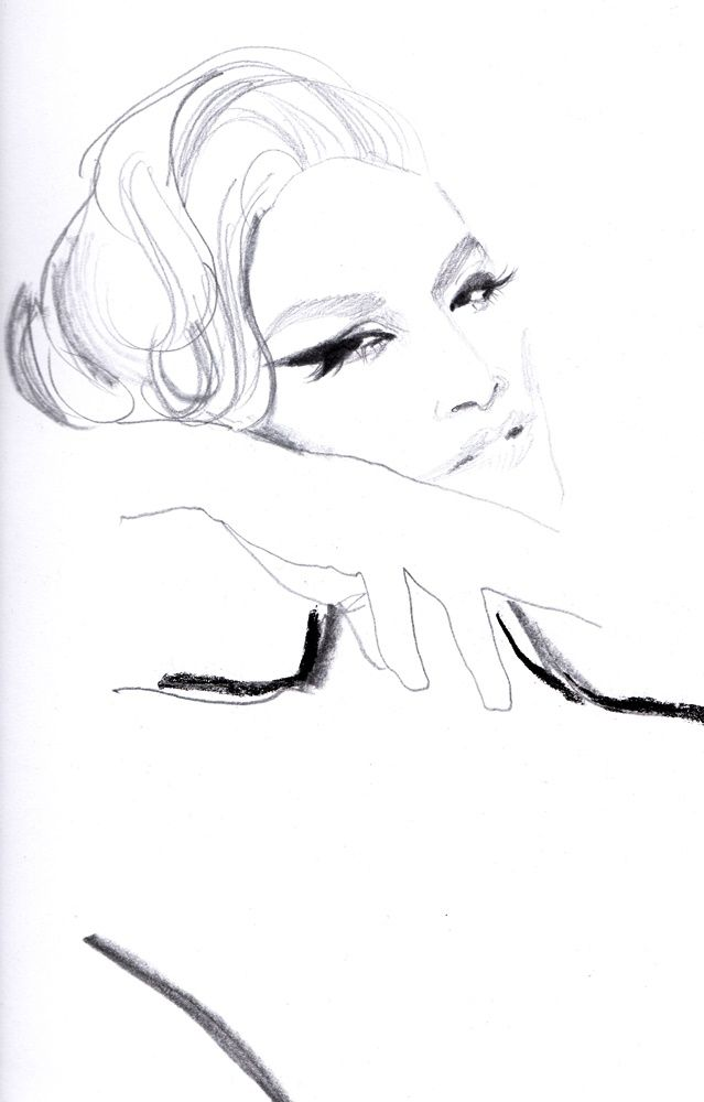 Sketch - Pencil, illustration, portrait - michellepam   ello