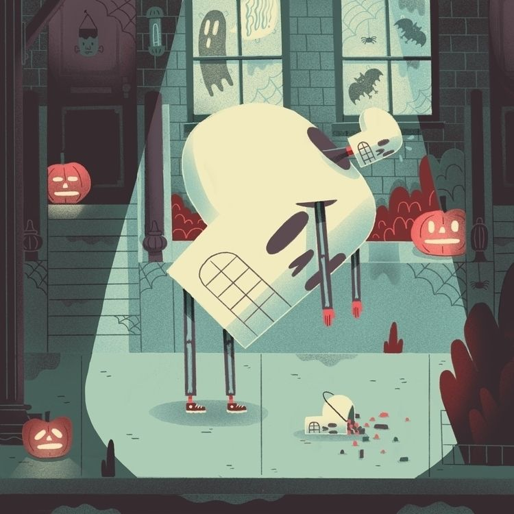 trick treat  - 🦇, halloween, trickortreat - jefflowryillo | ello