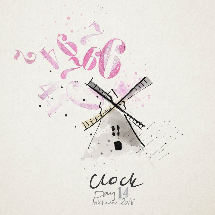 Inktober 2018 Day 14: Clock Too - eadesign | ello