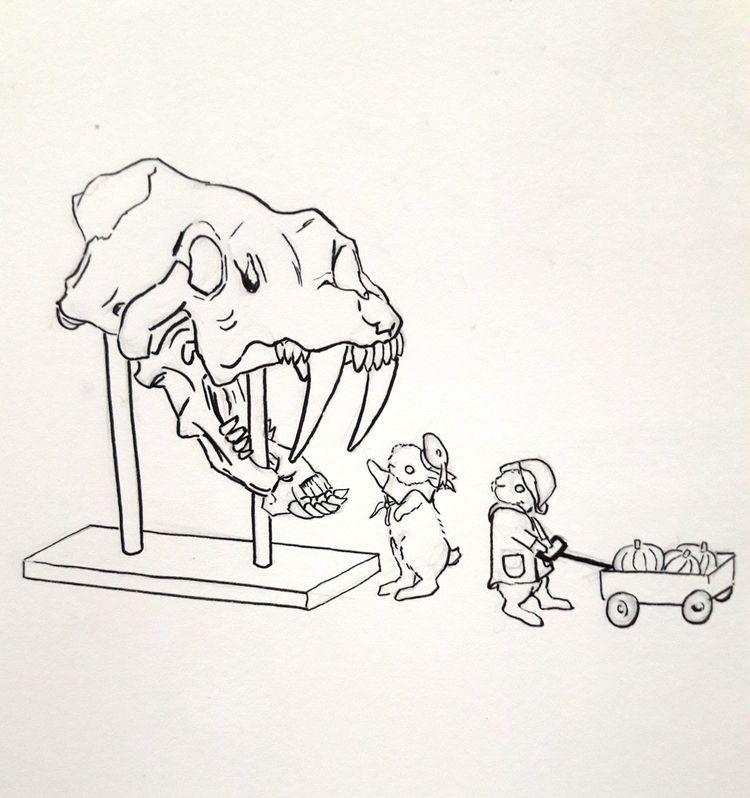 Day 31 Inktober - Bones Happy H - j0eyg1rl | ello