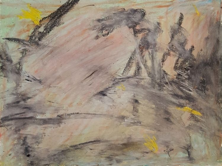threw light, 2018, pastel paper - ruben_lanca | ello