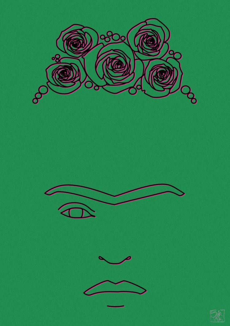 Frida Kahlo - minimalism, line, art - ilaviu | ello