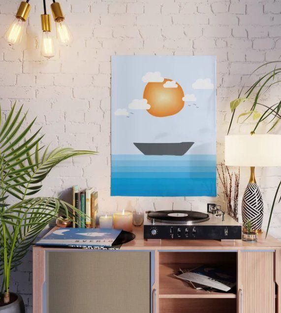 Lost Ship Poster Illustration s - creativeaxle | ello
