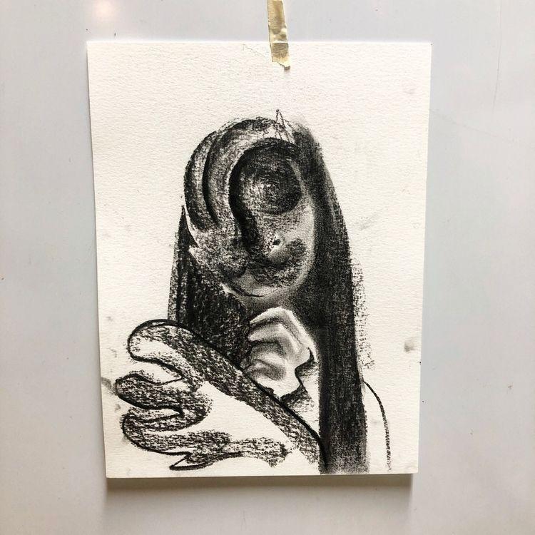 quick sketch - charcoal, lover, dreamer - blflood   ello