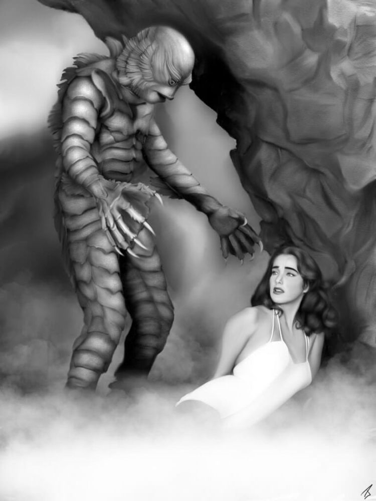 Creature Black Lagoon illustrat - pearsstudio | ello