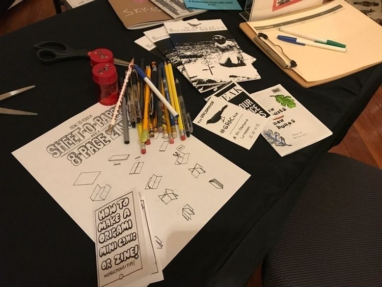 "zine table arts center ""Friends - tinpoet 