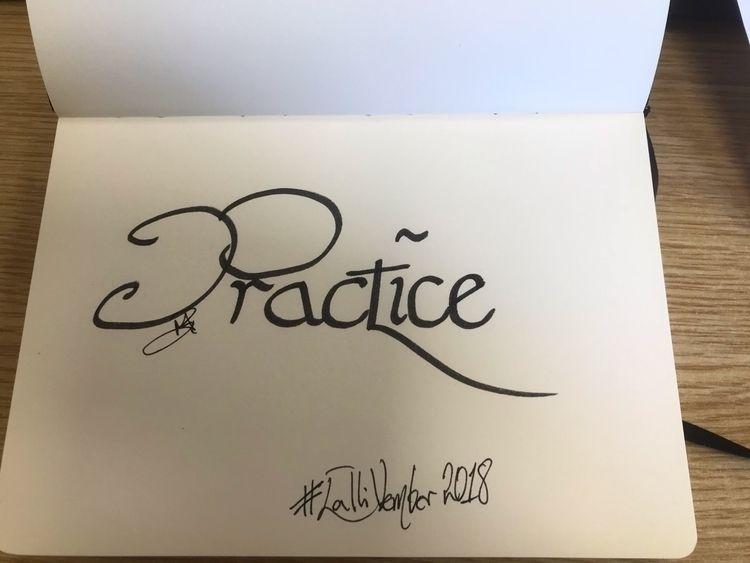 Day 2 - CalliVember2018, calligraphy - melanie-jane | ello