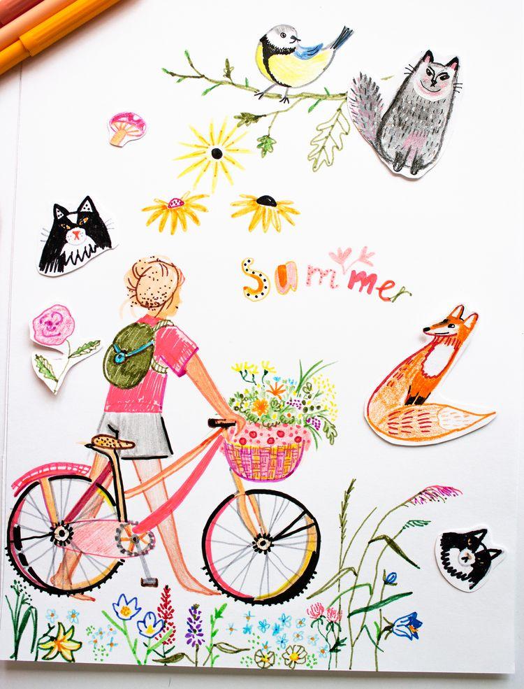 happy - art, markers, drawing, painting - nekotangerine   ello