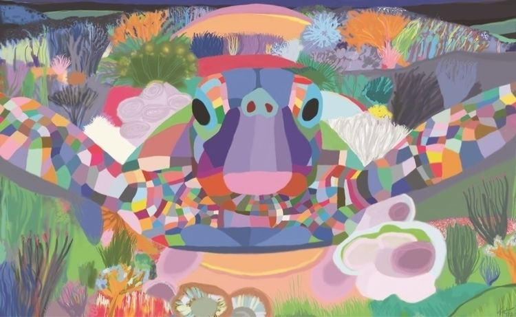 Sea Turtle Topher Straus Print  - bitfactory | ello