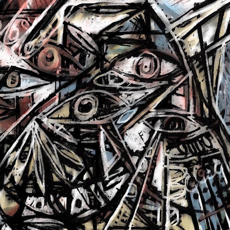 retune - abstract, eyeballs, gestural - catswilleatyou | ello
