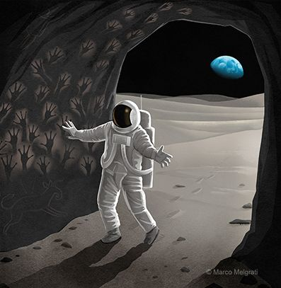 Cave - moon, nasa, apollo, suit - marcomelgrati | ello