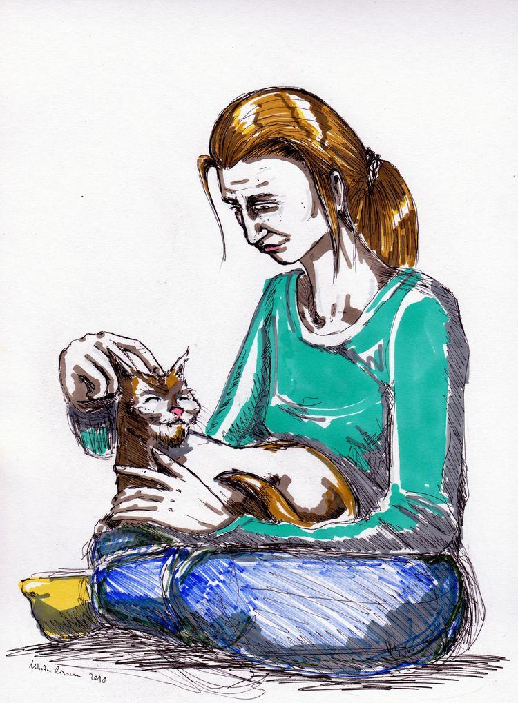 finger cat scratch - art, comicart - nikita_r | ello