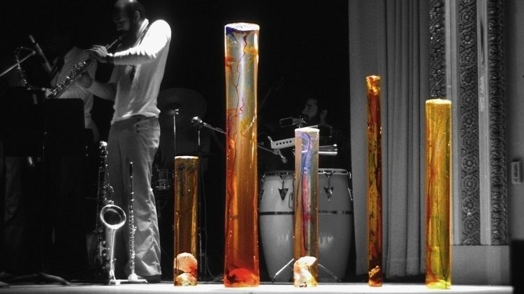 5 cast acrylic columns time jaz - thoskite | ello