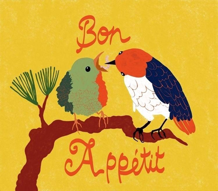Bon Appétit - illustration, drawing - spoto | ello