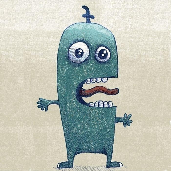 Sketch 007 - monsterish creatur - 999sketches | ello