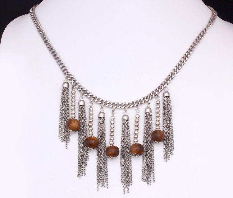 Tassels Brown Necklace | Voguec - voguecrafts | ello