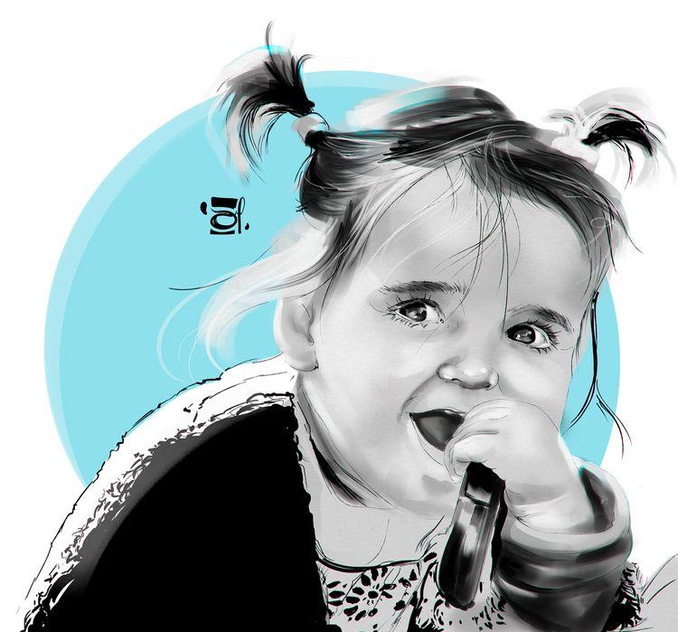 sketch, illustration, portrait - douglasmoreira | ello
