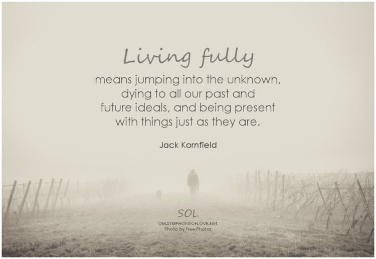 Living fully means jumping unkn - symphonyoflove | ello