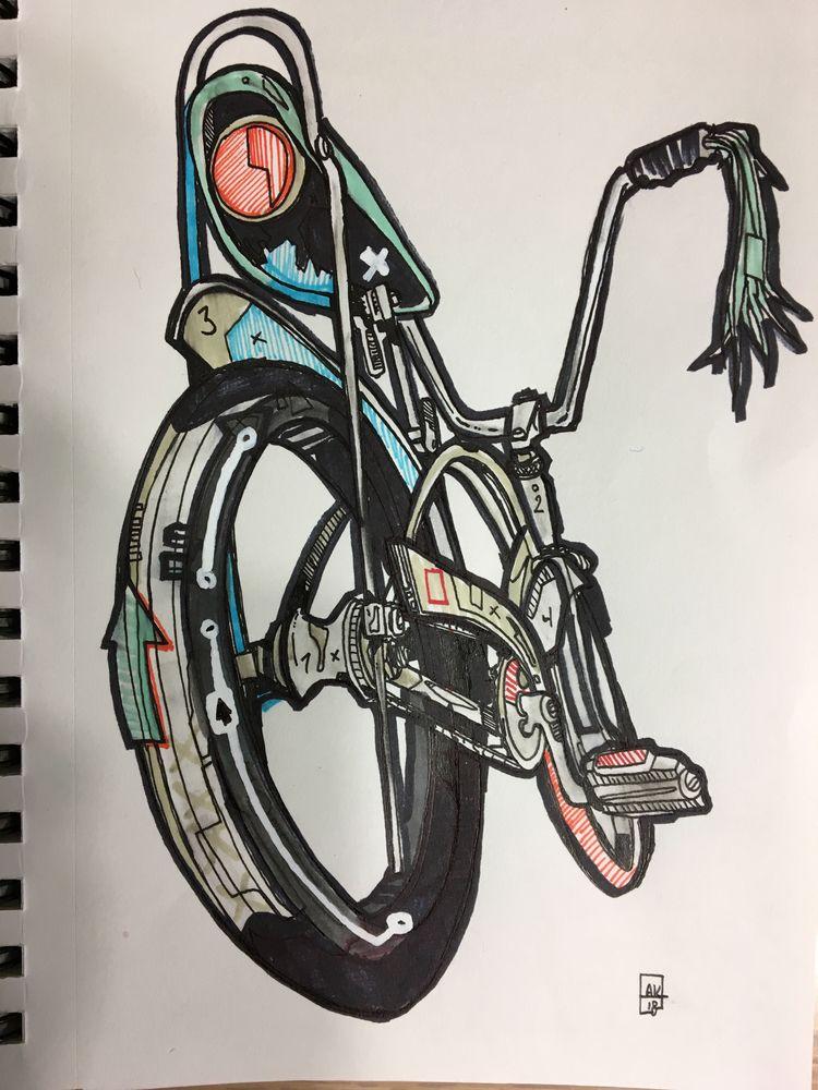 Morning Stingray drawing - schwinn - aaronkraten   ello