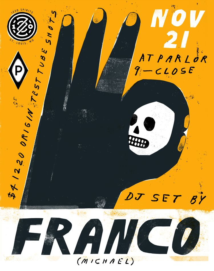 Franco Flyer - poster, gigposter - grossillustration | ello
