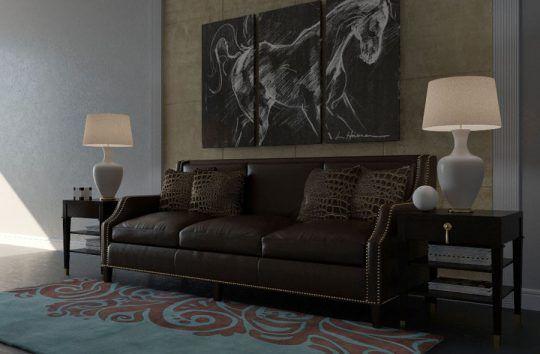Modern Living Room Scene Cinema - c4ddownload | ello