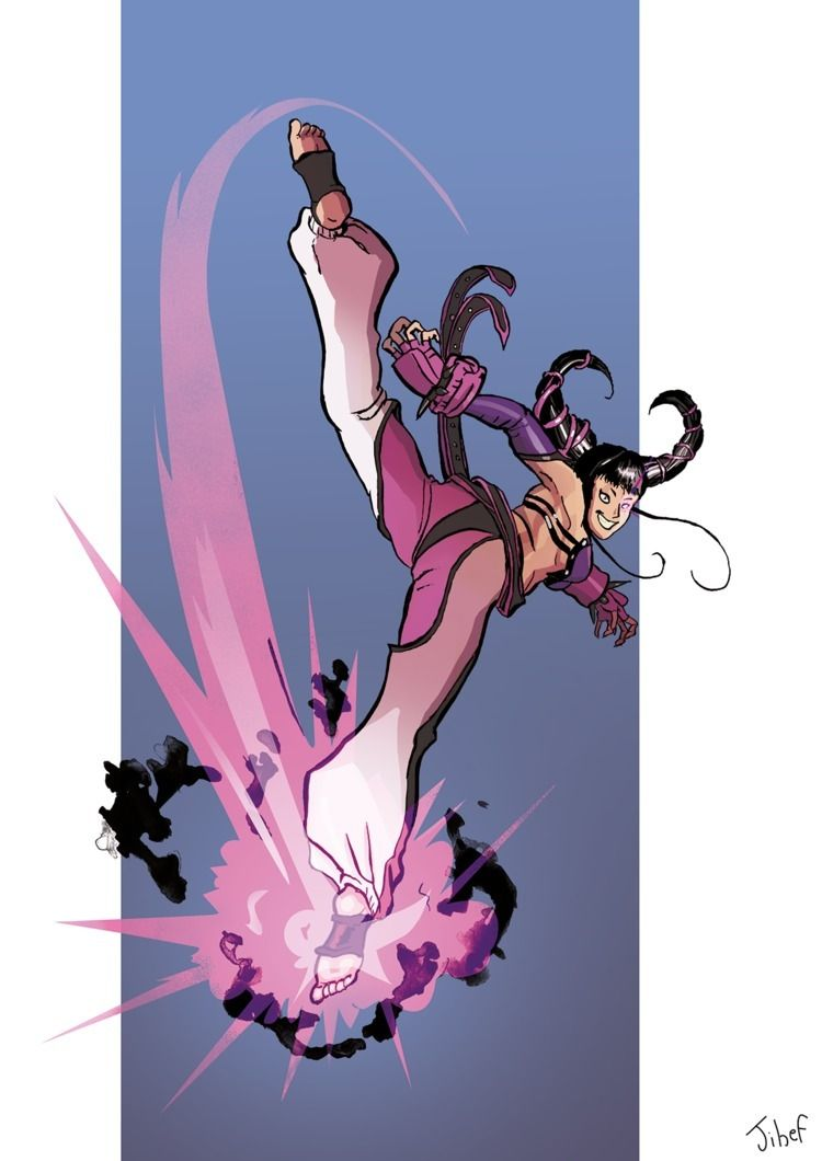 Juri Han June  - streetfighter, cdc - jihefaitdesdessins | ello