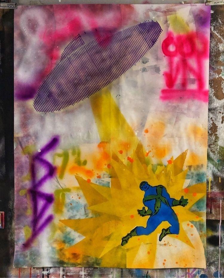 """Hero hunter UFO"" . Acrylics sp - cicerospin | ello"