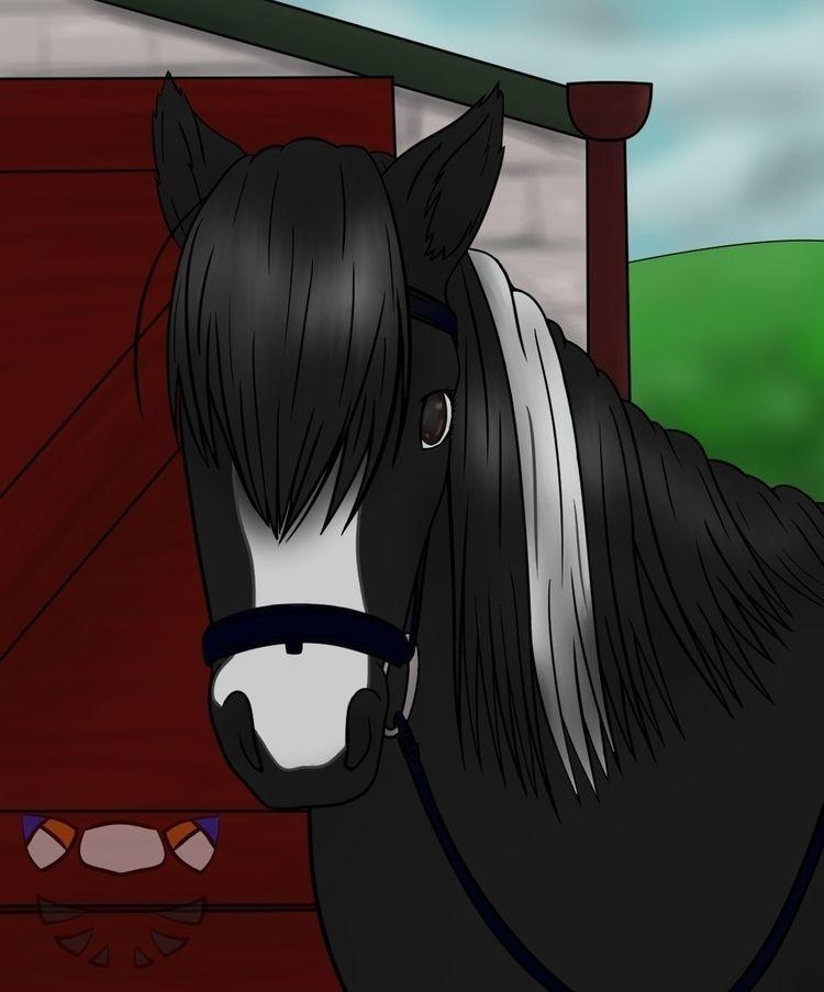 Patreon reward Deike horse Mia - sashybash | ello