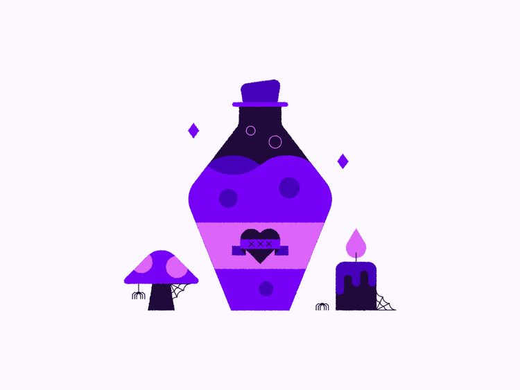 inktober - poison, heart, mushroom - jordkane | ello