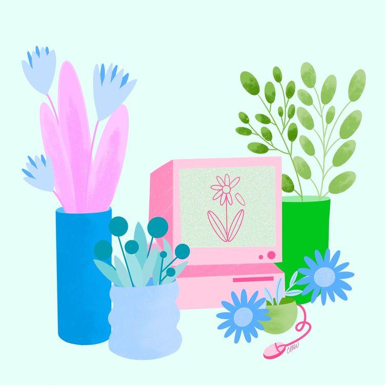 Flowers Computer - carmenlew | ello